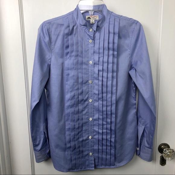9517605fcbbac2 J. Crew Thomas Mason Tuxedo Shirt Periwinkle 4